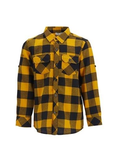 DeFacto Erkek Çocuk Kare Desen Gömlek Sarı